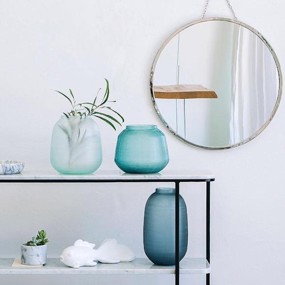 D coration salle de bain esprit bord de mer taaora for Miroir rond salle de bain