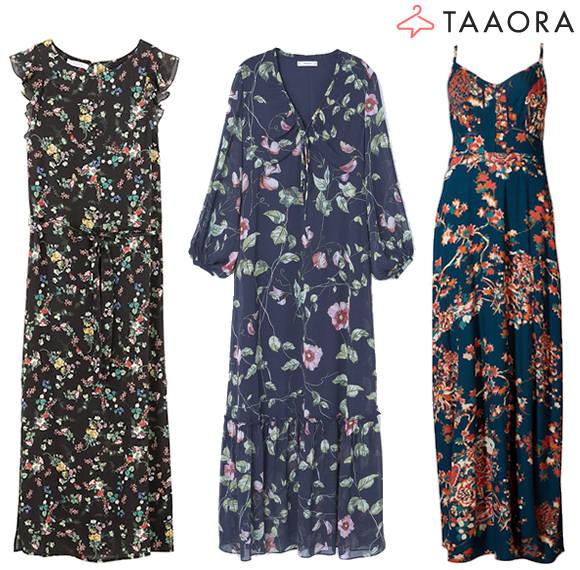 robes longues fleurs tendance t 2017 taaora blog. Black Bedroom Furniture Sets. Home Design Ideas
