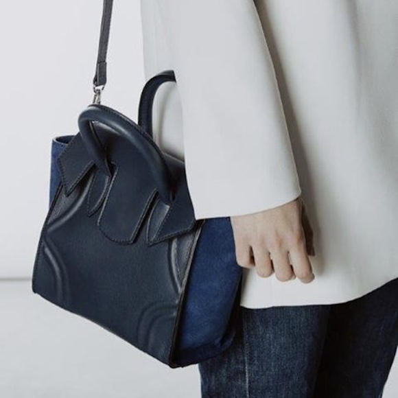 Blog Sac à Main Mode : Petit sac ? main bleu marine minelli mon coup de coeur
