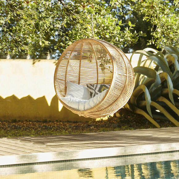 fauteuil suspendre en rotin en promotion taaora. Black Bedroom Furniture Sets. Home Design Ideas