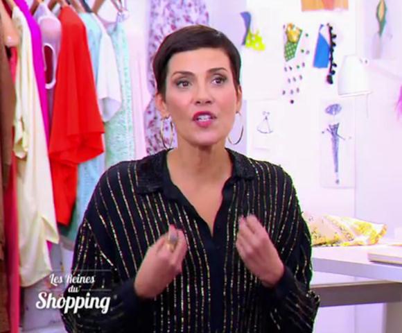 cristina cordula shoppez sa blouse noire sequins en promotion 40 taaora blog mode. Black Bedroom Furniture Sets. Home Design Ideas