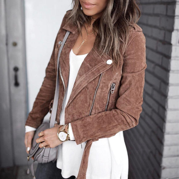 Exceptionnel Wanted : un perfecto en daim marron/camel – Taaora – Blog Mode  DB89