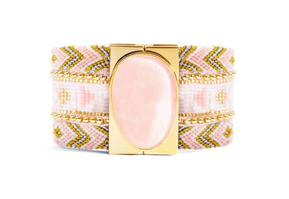 Bracelet Hipanema rose clair