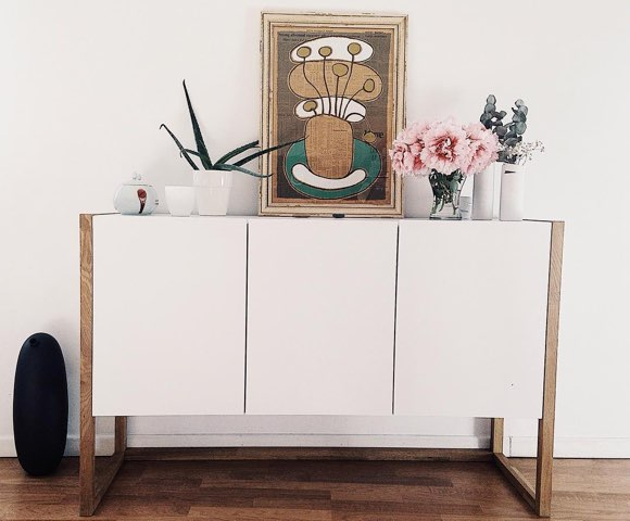 inspiration d co buffet blanc style scandinave taaora. Black Bedroom Furniture Sets. Home Design Ideas