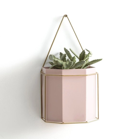 Id e d co tendance un cache pot mural rose taaora for Cache pot design interieur