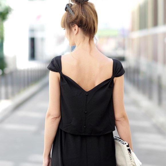 Robe longue noire été