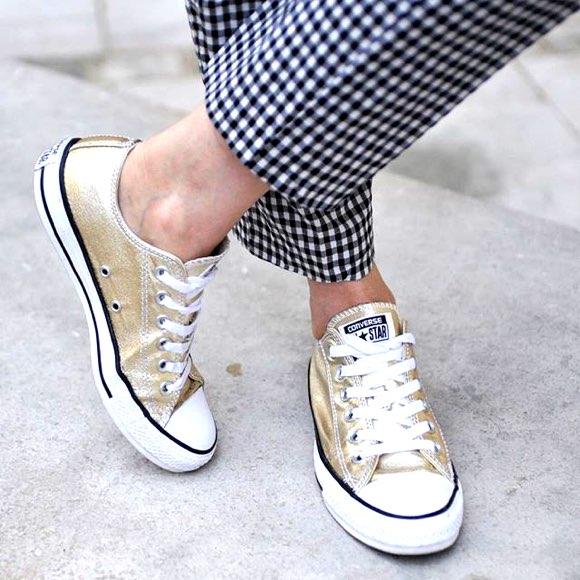Baskets Converse dorées femme