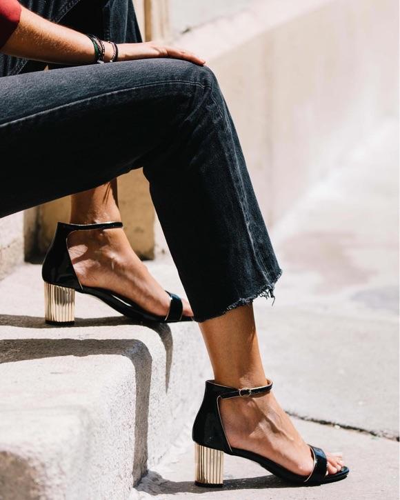 Sandales style chic avec jean