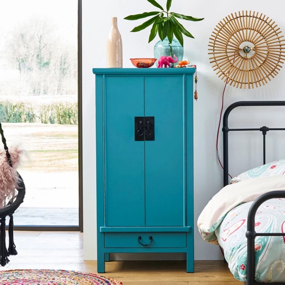 Armoire chinoise bleue style traditionnel – Taaora – Blog Mode ...