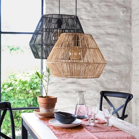 Lampe chanvre déco style nature