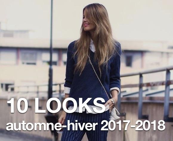 10 looks automne,hiver 2017,2018