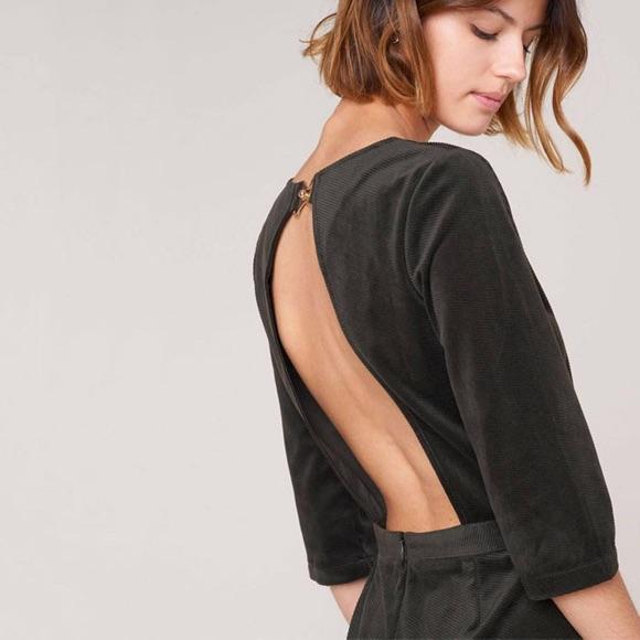Robe velours noire décolleté dos