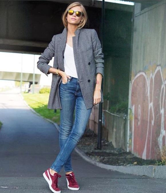 avec des baskets bordeaux taaora blog mode