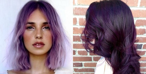 Coloration cheveux violets