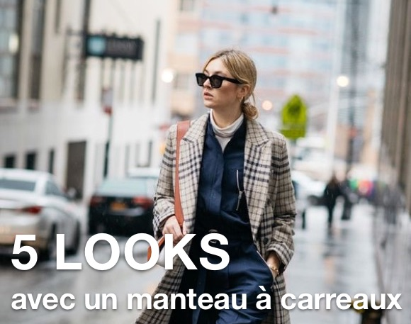 e84a6df906 Comment porter un manteau à carreaux long tendance cet hiver ...
