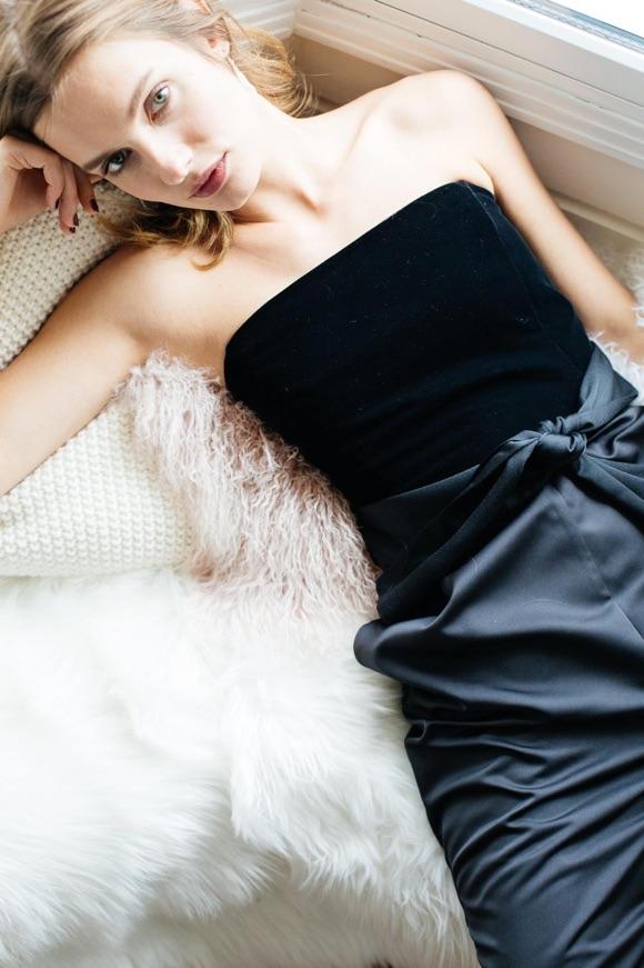 Combi-pantalon bustier noir