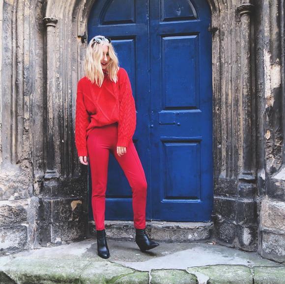 Total look rouge