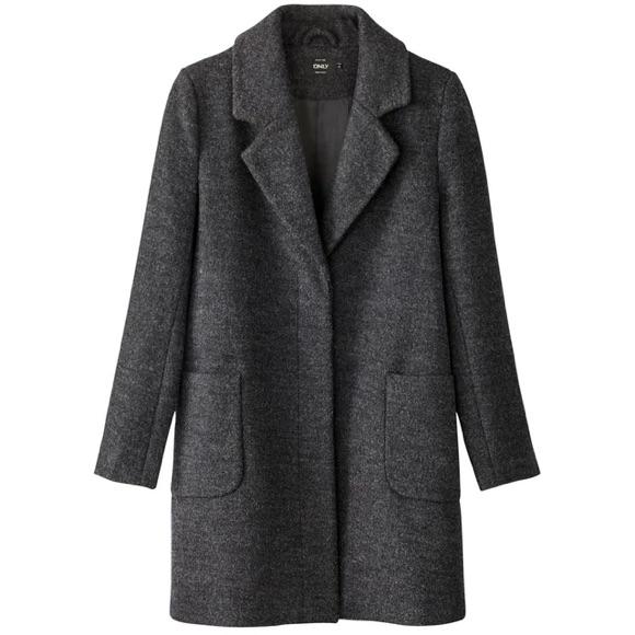 Manteau gris foncé chiné