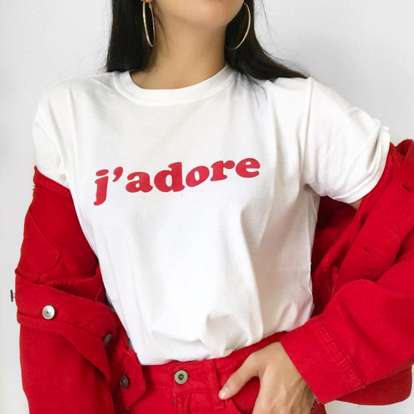 T-shirt J'adore Boohoo