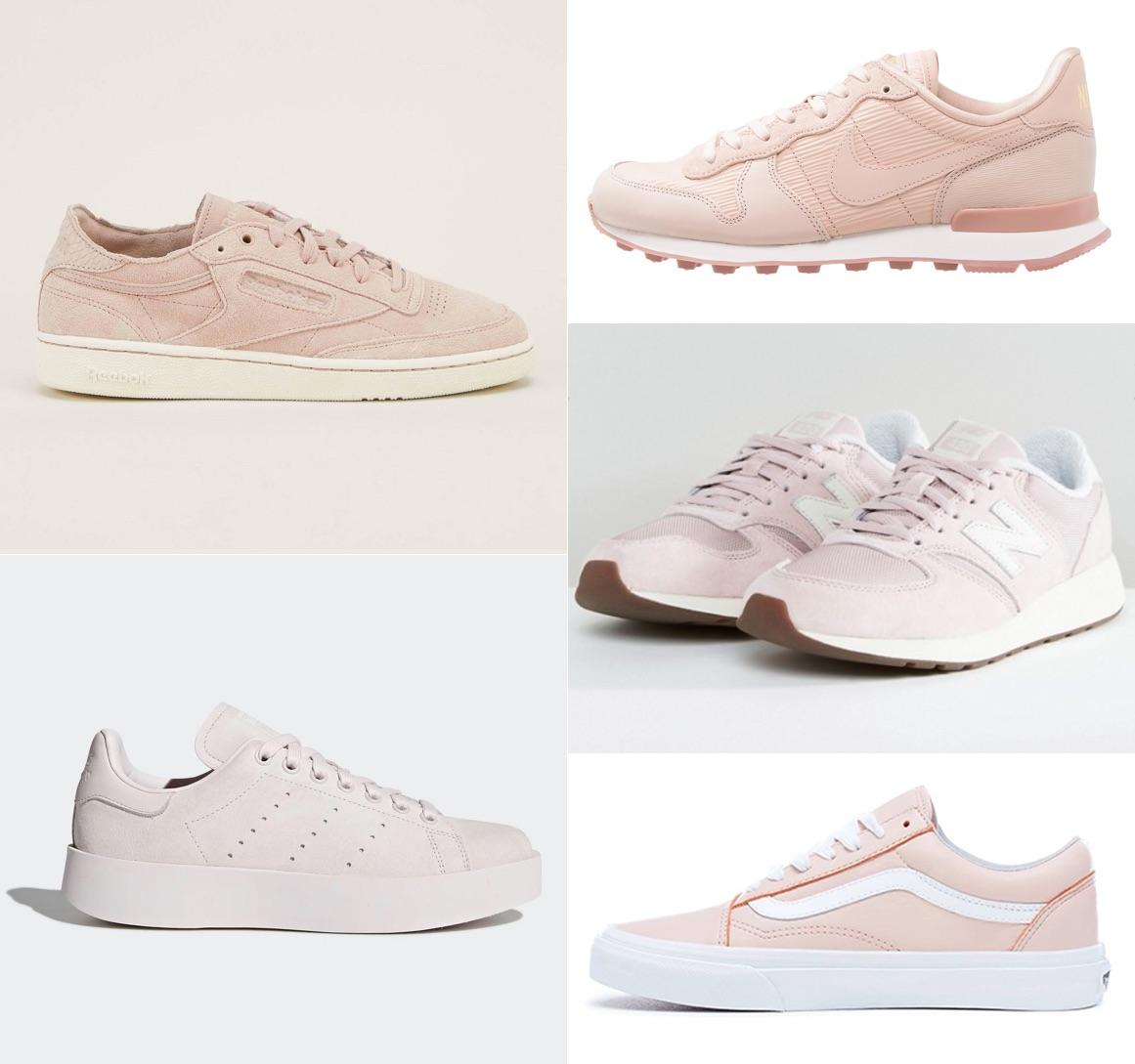 Baskets roses Adidas New Balance Nike Reebok Vans