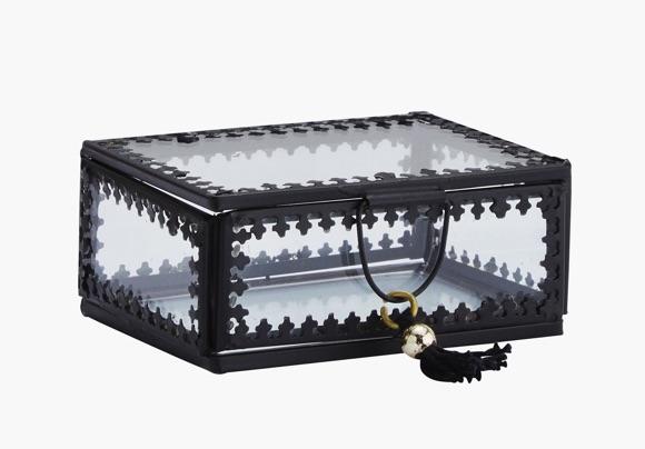 Boîte en verre noir