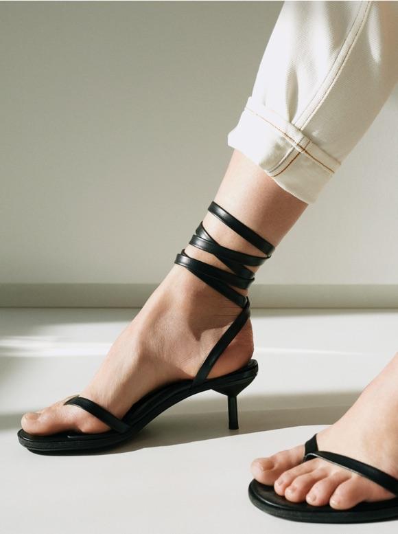 Sandales kitten heels noires