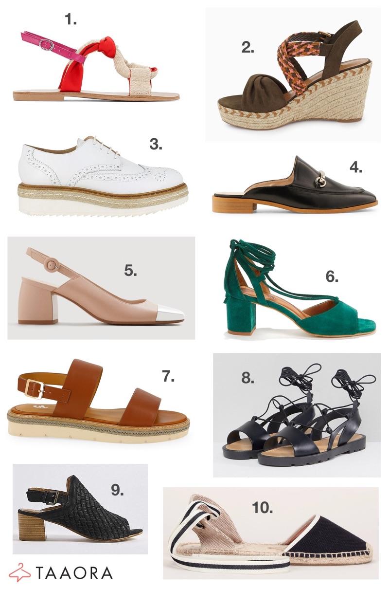 Chaussures Tendances Printemps été 2018 Taaora Blog Mode Tendances Looks