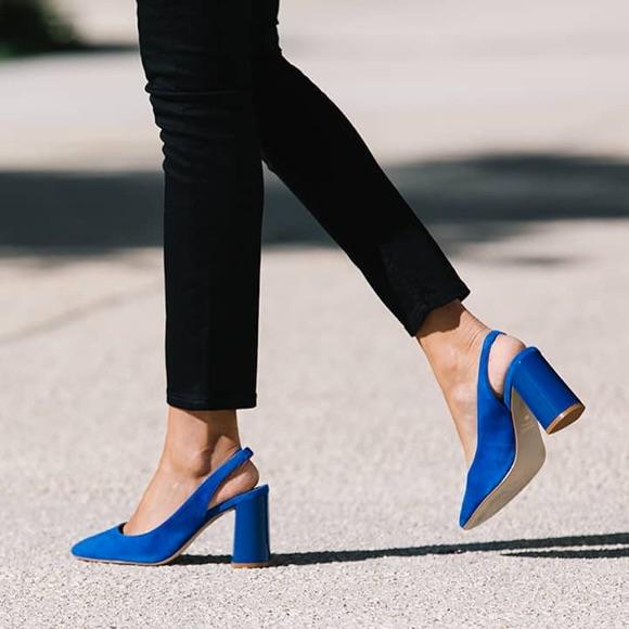Escarpins bleu électrique cobalt