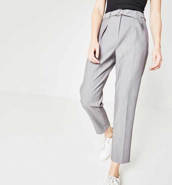 Pantalon femme gris chic