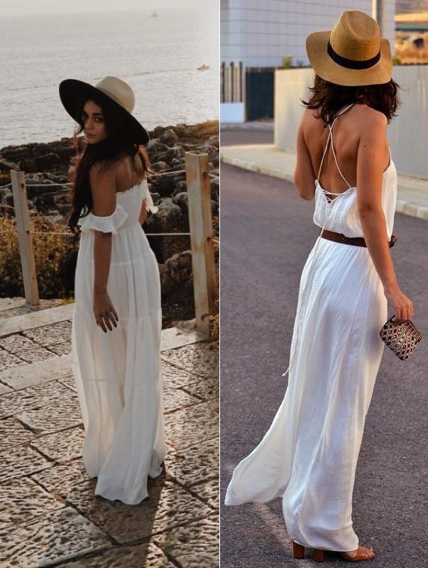 Robe longue blanche été