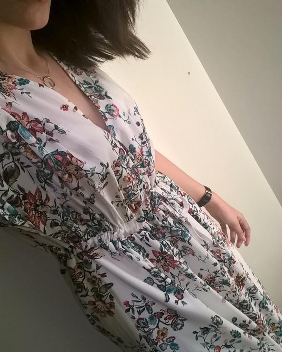 Robe longue à fleurs Promod