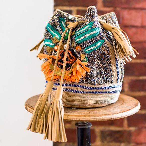Sac Antik Batik perles pompons