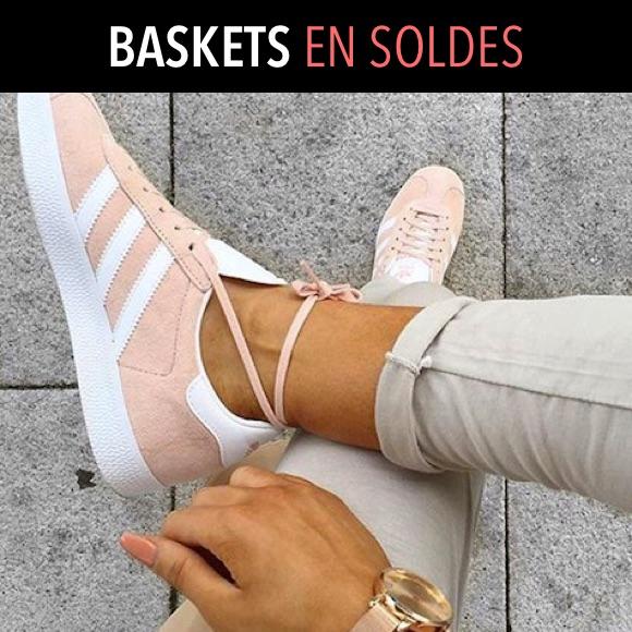 Baskets femme en soldes