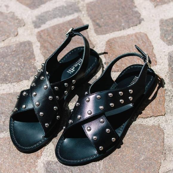 Sandales Minelli noires cloutées