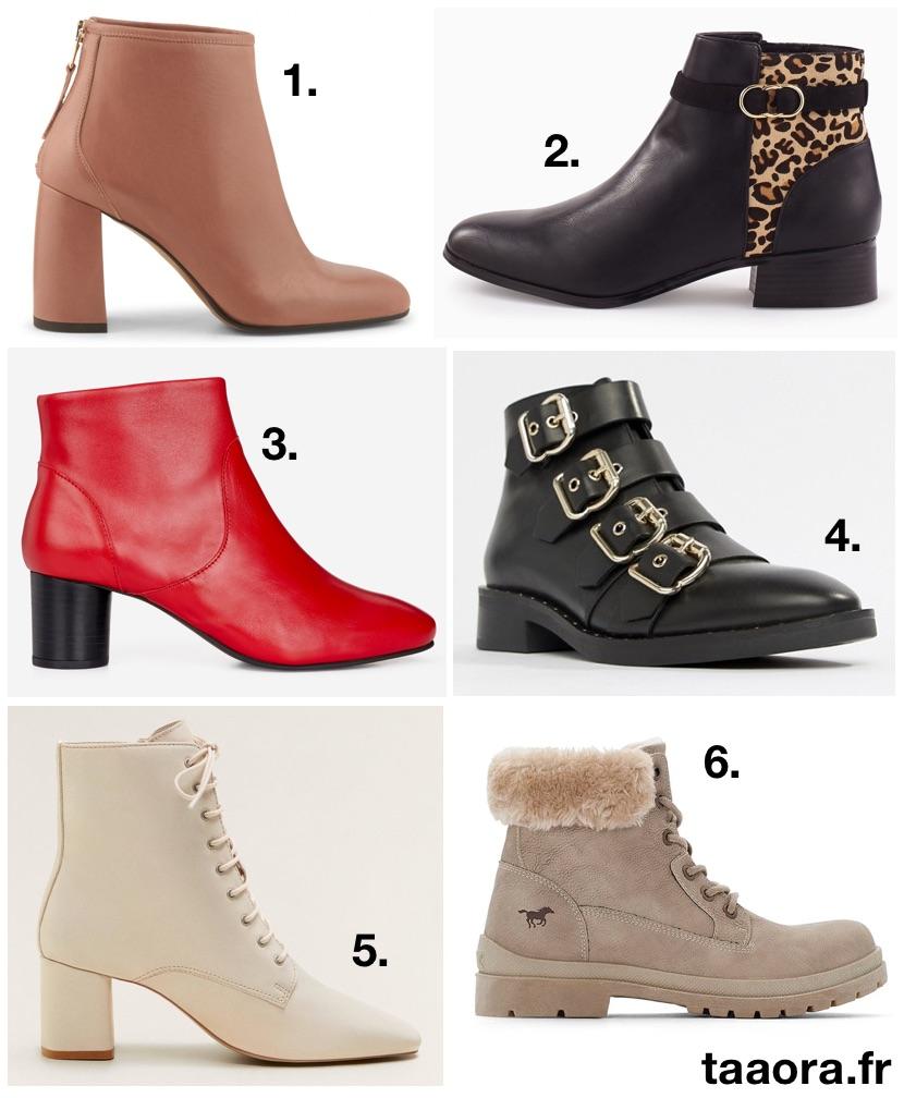 Bottines automne,hiver 2018,2019  6 boots tendances