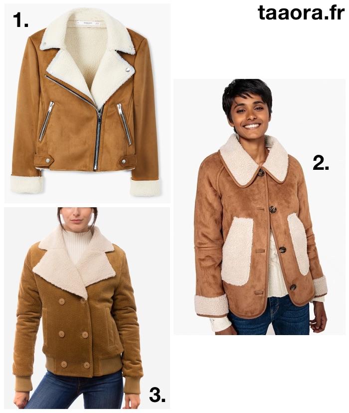 moins cher 267d9 2f57f Blouson imitation peau de mouton : veste tendance automne ...