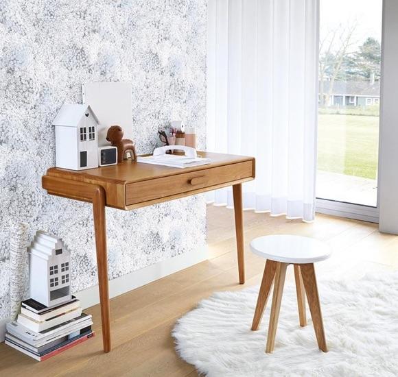 Bureau console en bois design épuré