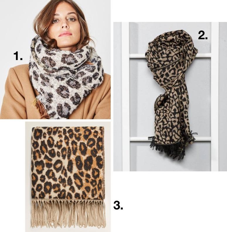 En liquidation Excellente qualité les ventes chaudes 3 écharpes imprimé léopard tendances – Taaora – Blog Mode ...