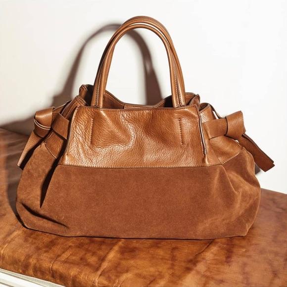 5efe9e51fa Il nous faut ce grand sac marron Minelli ! – Taaora – Blog Mode ...