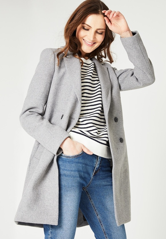 Manteau intemporel chic gris