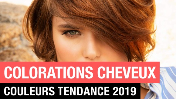 Coloration couleurs cheveux tendance 2019