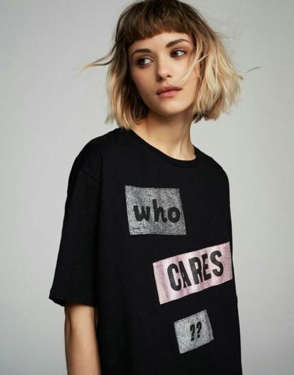 Frange courte tendance coiffure 2019