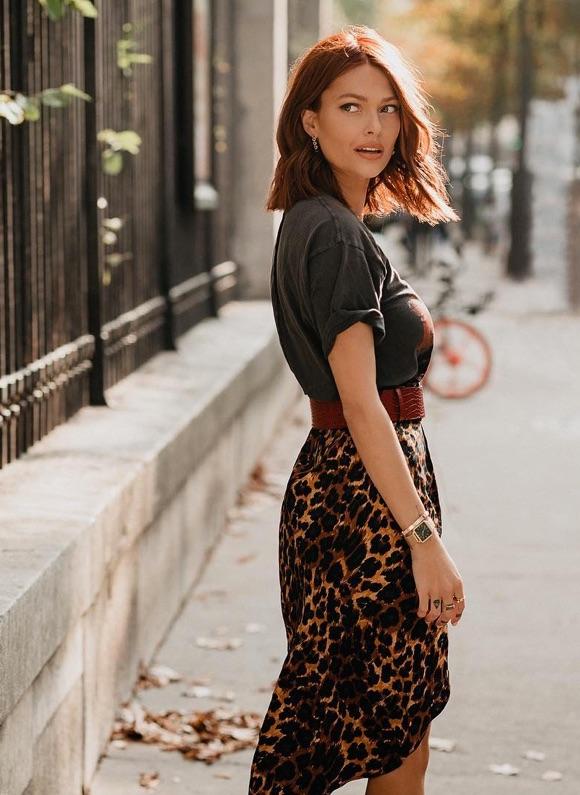 Avec quoi mettre une jupe léopard ?