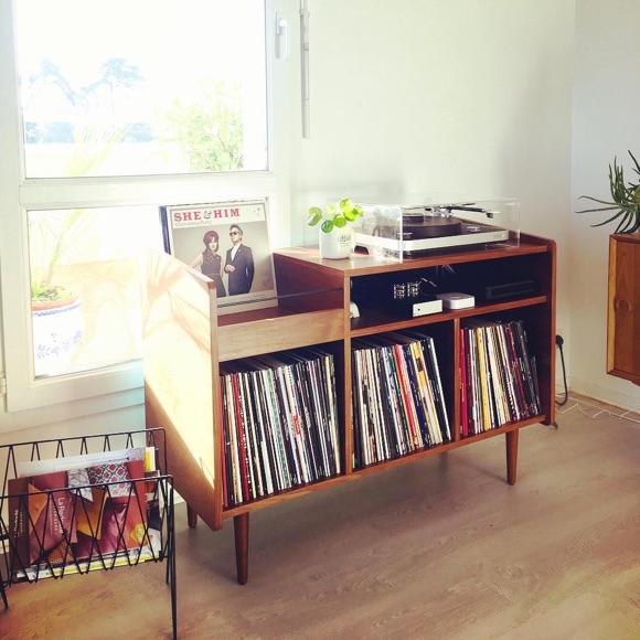 Meuble rangement vinyles