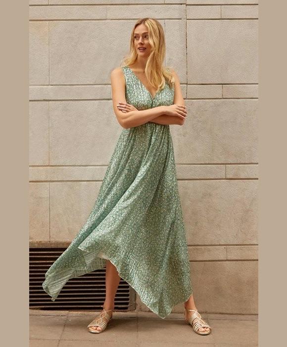 robe fleurie longue promod