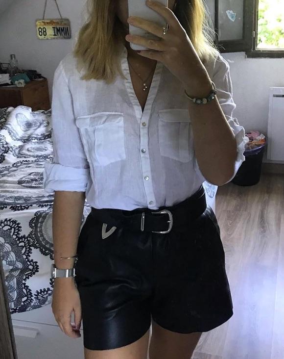 Short cuir noir comment porter ?