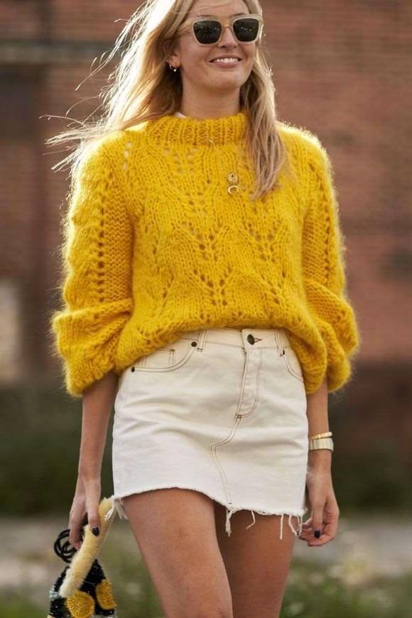 Look pull jaune