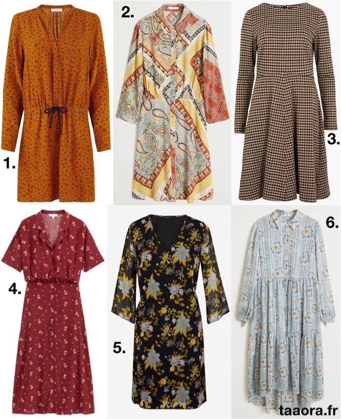 Robes imprimées automne,hiver 2019,2020 \u2013 Taaora \u2013 Blog Mode