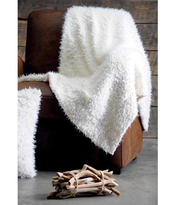 Plaid blanc effet poils de mouton