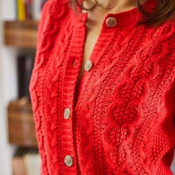 Cardigan rouge femme